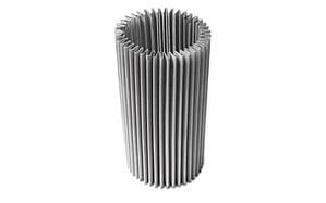 pleat cylindrical