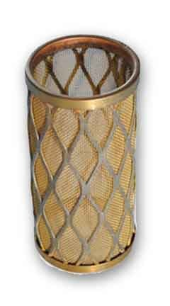 gold metal filter or strainer